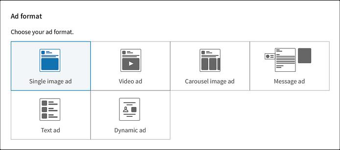 Linkedin ad format